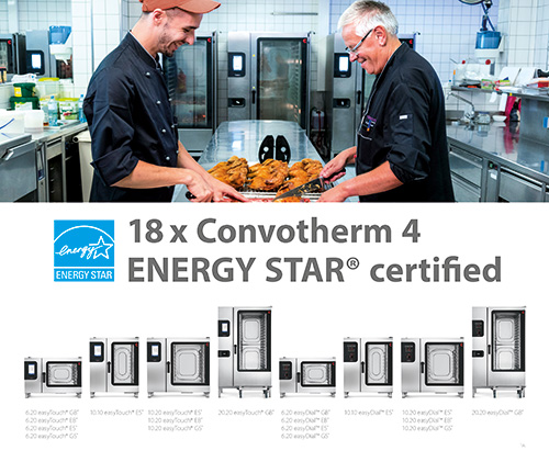 Convotherm receives ENERGY STAR® Certification on 18 models
