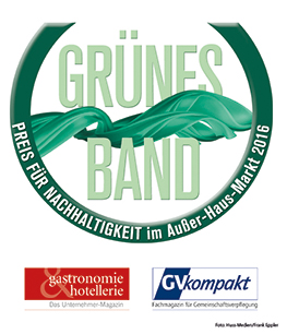 "Convotherm won the 2nd place in the category water for the sustainability award ""Grünes Band"""