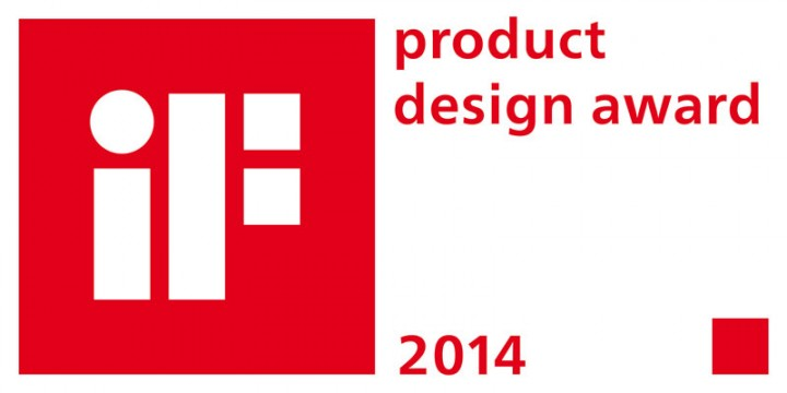 Recognized with the iF product design award 2014